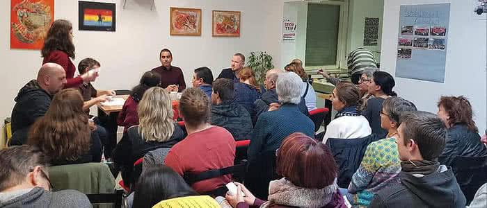 Bild von der Mitgliederversammlung der Lniken Bochum