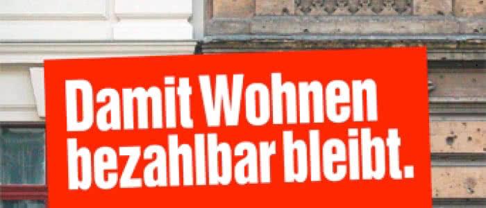 """Bannerbild """"Damit Wohnen bezahlbar bleibt"""""""
