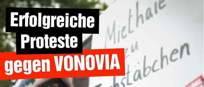 Bannerbild erfolgreiche Proteste gegen Vonovia