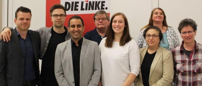 Der neu gewählte Kreisvorstand der LINKEN Bochum
