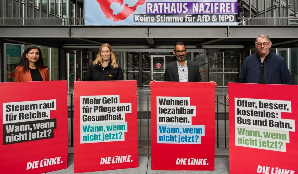 Wann, wenn nicht jetzt? Bochumer LINKE stellt Plakatkampagne vor